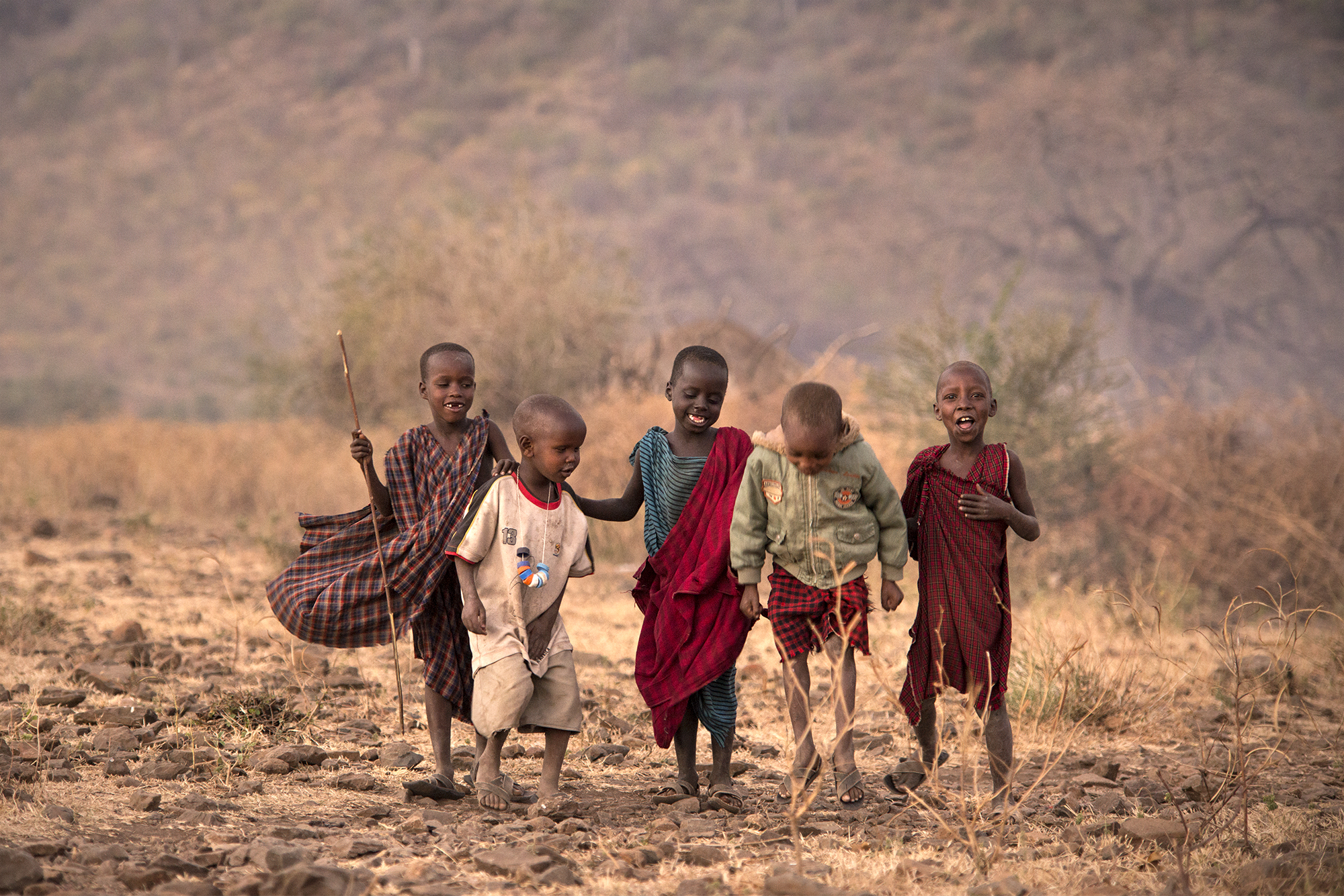 Maasai Tribe -- Little Warriors