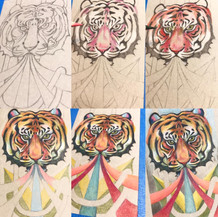 Process of the drawing_