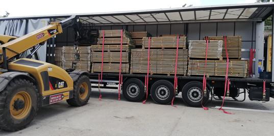 oak edged timber loading