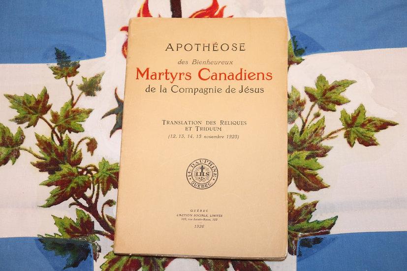 Apothéose des Bienheureux Martyrs Canadiens de la Compagnie de Jésus