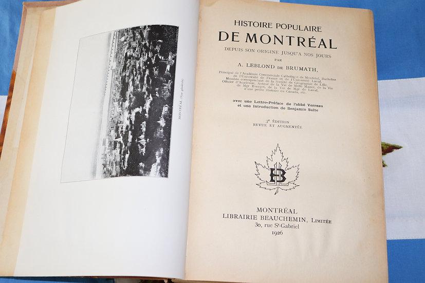 Histoire populaire de Montréal