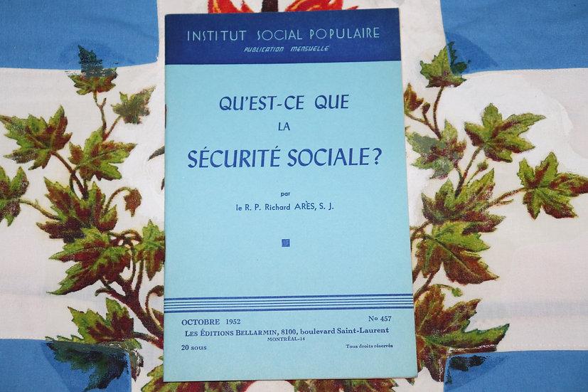 Qu'est-ce que la sécurité sociale?