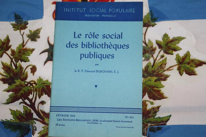 Le rôle social des bibliothèques publiques