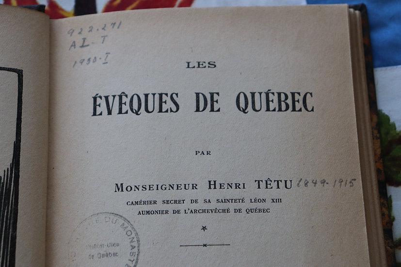 Les évêques de Québec