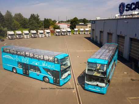 Double-deckers in Ostrava