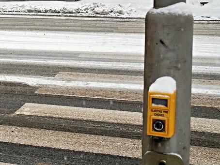Prague testing contactless pedestrian button