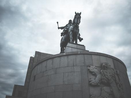 Žižka's statue celebrates 70th birthday