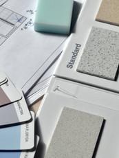 carnet de matériaux et planche d'ambiance
