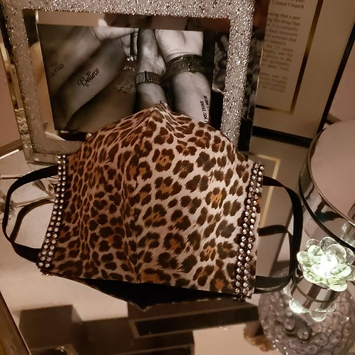 Leopard Love Blingy Mask