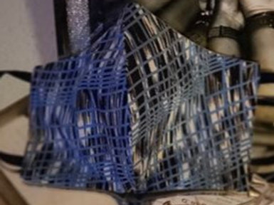 Blue Streak - Adult Reversible Jazzy Mask