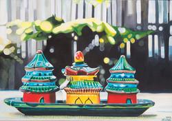 Pagoda Cruet Set