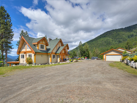 Log Home With Views on 23 Acres - New Listing