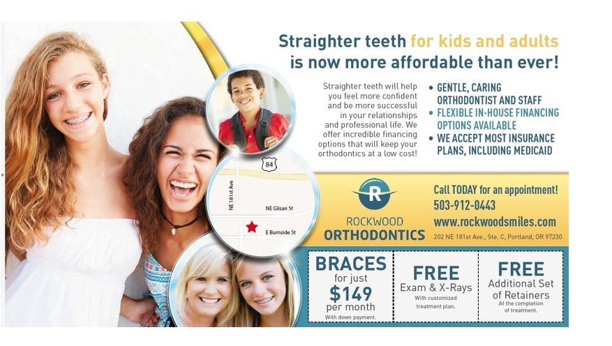 Orthodontic specials, braces for just $149 per month, free exam, affortable orthodontics