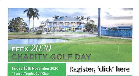 EFEX 2020 Charity Golf Day Web Register.