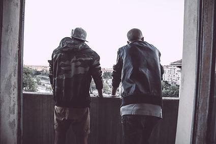Buddies on a balcony