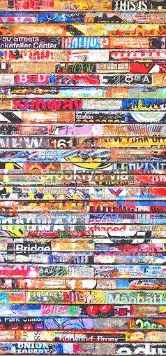012_New York daily rhythm_mixed media on