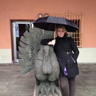 Leah with a turkey.jpg