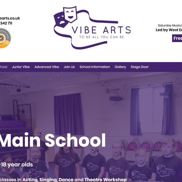 Vibe Arts Theatre School Website