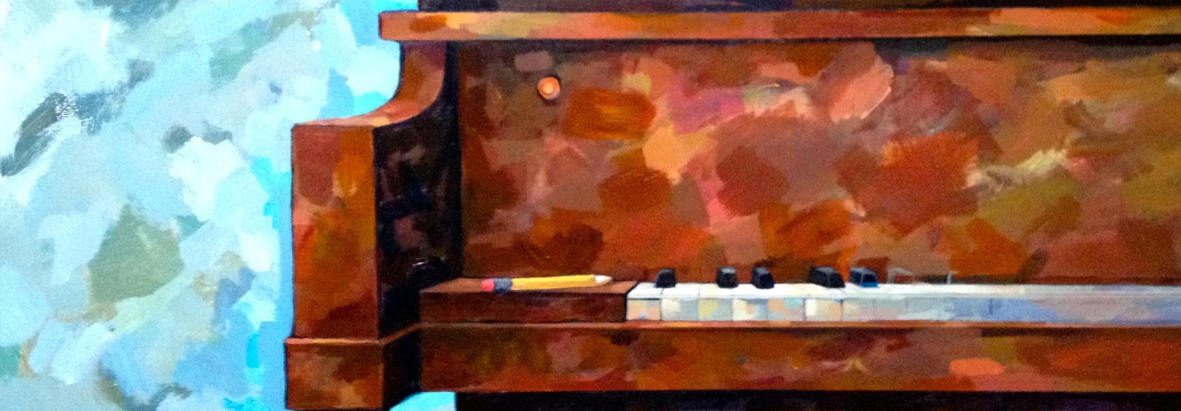 Piano and Pencil, 36 x 12