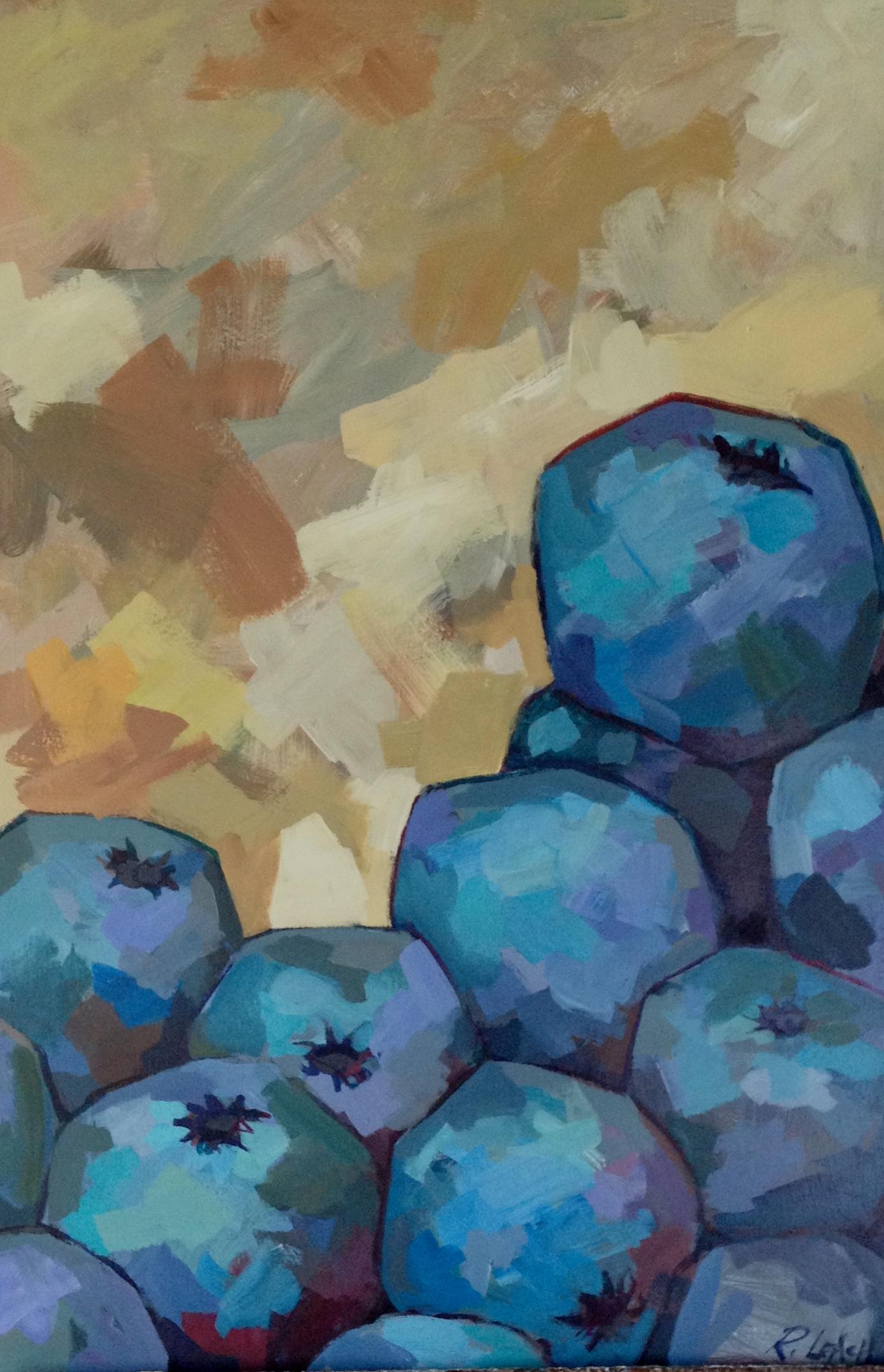 Blueberries, 30 x 40.