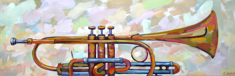 Hodgins Trumpet, 36 x 12