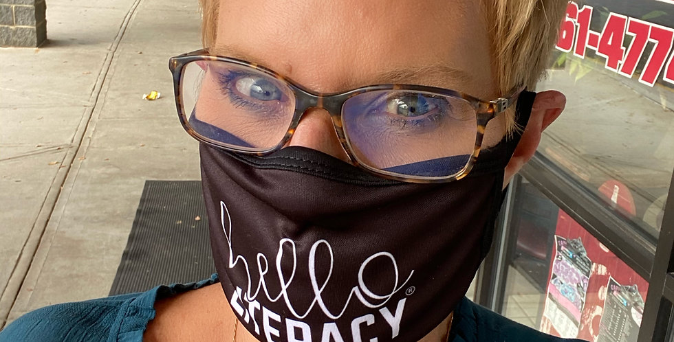 Hello Literacy Face Mask