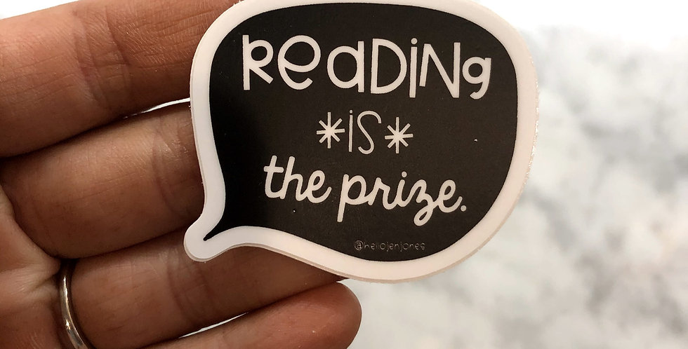 Reading is the Prize Sticker
