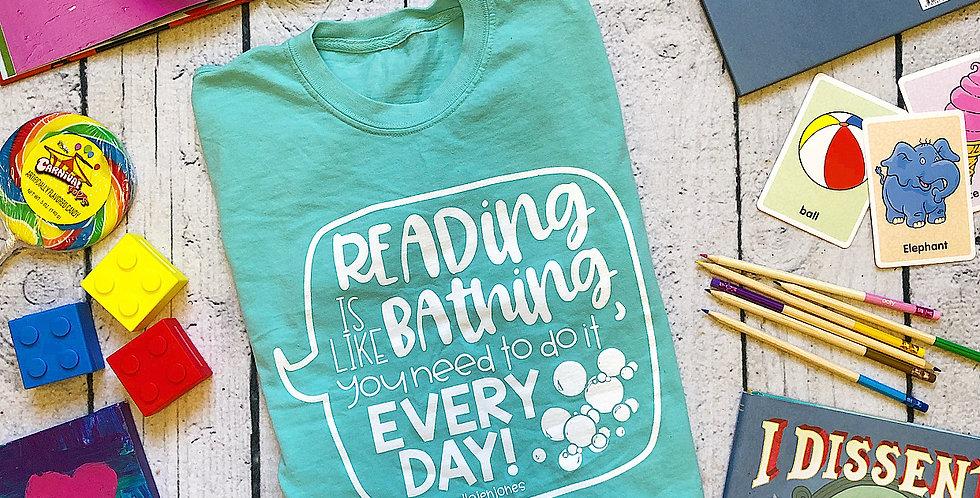 Mint Reading & Bathing Shirt