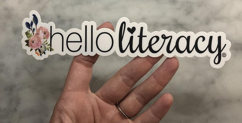 Hello Literacy Long Sticker