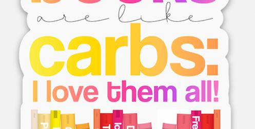 Books = Carbs Sticker