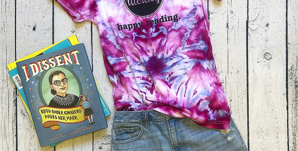 Happy Reading Tie-Dye Tee