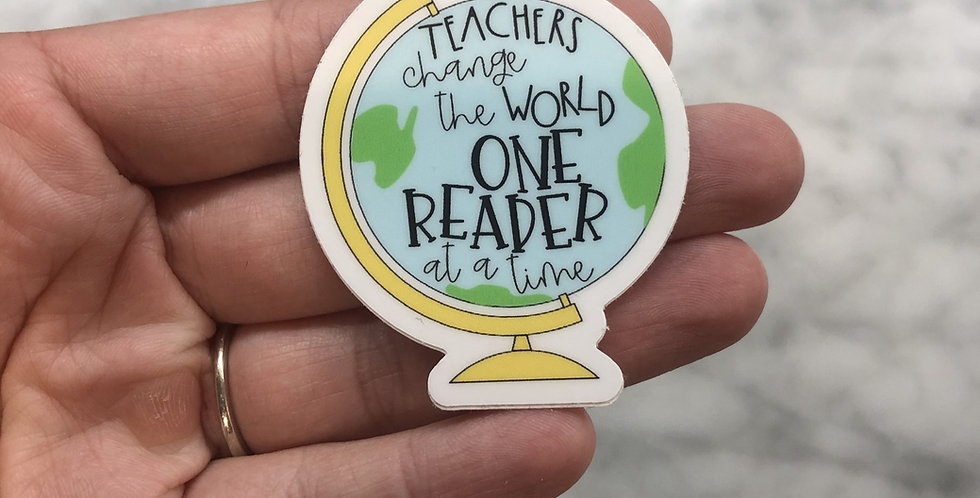 Teachers Change the World Sticker