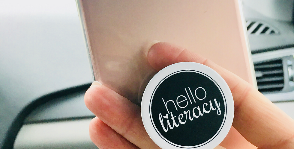 Hello Literacy Pop Socket
