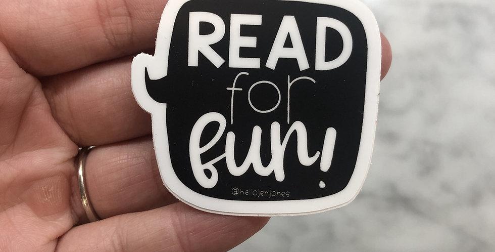 Read for Fun Sticker