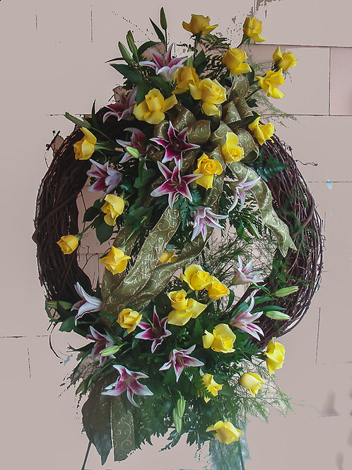 Contemporary Sympathy Wreath