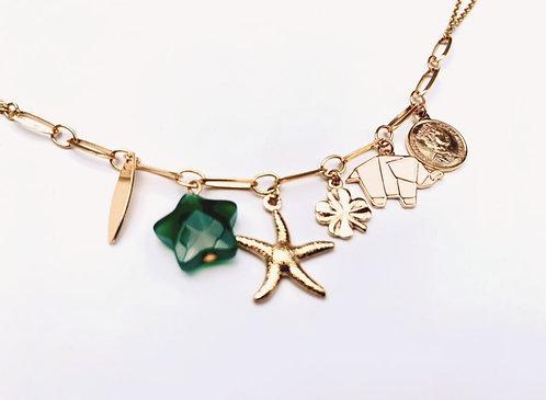 Collier Star Green