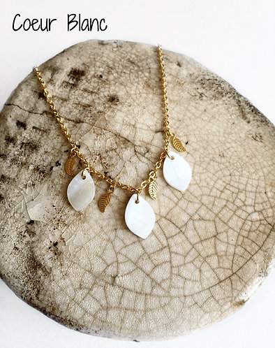 Collier Coeur Blanc