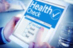 Digital Health Check Healthcare Concept.