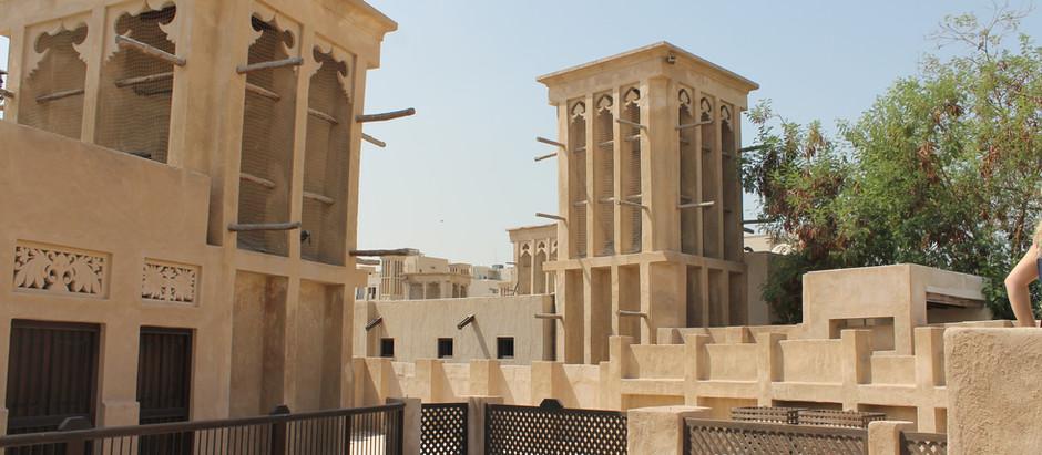 Barrio Histórico de Al Fahidi y su elemento más característico:     Las Torres de Viento