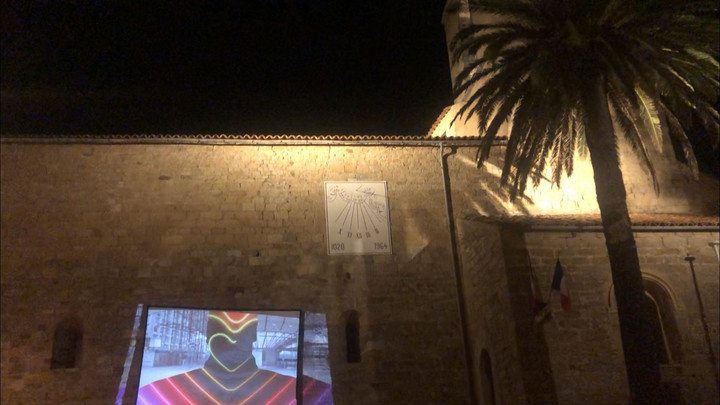 Projection in Grimaud, south of France