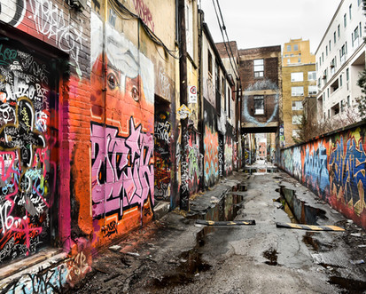 Grafiiti in Queen West lane, Toronto