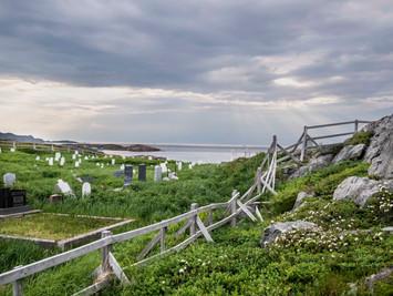 Fogo Island Grave Yard on the ocean