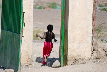 Boy Running, Ethiopia, Africa