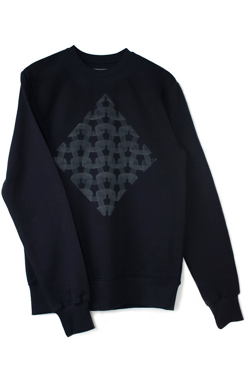 THE NAVY 'KNIT' SWEATSHIRT