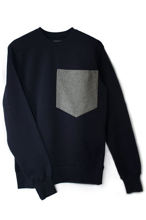 THE NAVY POCKET SWEATSHIRT