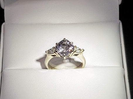 Enchanting Spinel & Diamond