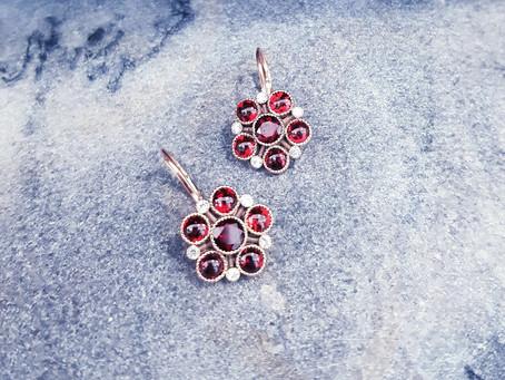 Garnet Earrings - the final touch