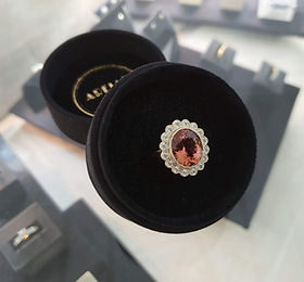 tourmaline and diamond dress rin