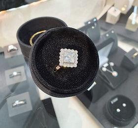 Diamond art deco inspired engagemet ring