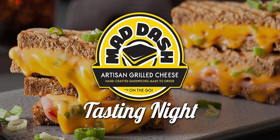 Mad Dash Artisan Grilled Cheese Tasting Night